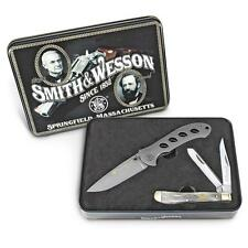 Smith & Wesson Oasis and Trapper Two-Knife Combo Tin gift set Collectors Dad Son