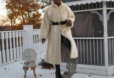 Full Length Vtg Designer Cream blond white cream Mink Fur Coat stroller M 4-10