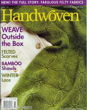 Handwoven magazine nov/dec 2006: felting; American girl