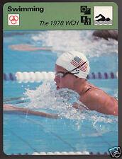 THE 1978 SWIMMING CHAMPIONSHIPS Tracy Caulkins USA 1979 SPORTSCASTER CARD 69-08B