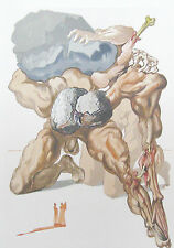 Salvador Dali The Divine Comedy Inferno #7 Woodblock Art Print, Make Offer!