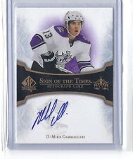 2007-08 SP AUTHENTIC MIKE CAMMALLERI SIGN OF THE TIMES AUTO UD SIGNATURE KINGS
