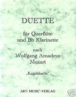 14 DUETTE QUERFLÖTE & Bb KLARINETTE > W.A. MOZART ( NOTEN )