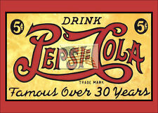 older postcard DRINK PEPSI COLA 5c famous over 30 years into a 7x5 picture