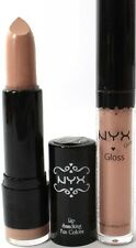 NYX Lipstick & Lipgloss Round 506 UBERCHIC & CAFE LATTE Light nude lip pack