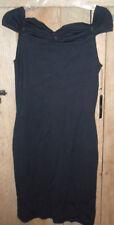 BCBG Knit Off Shoulder Sexy Little Black Dress LBD Cocktail NWT MSRP $195 Med M