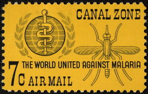 Canal Zone - 1962 - 7 Cents Malaria Eradication Mosquito Issue # C33 Mint F-VF