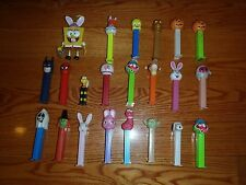 Vintage Lot of 21 PEZ Dispenser Star Wars Spider Man Batman Looney Tunes Holiday