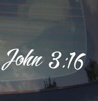 "John 3:16 Bible Jesus Christian Christ Holy Spirit Vinyl Decal Sticker 7.5"""