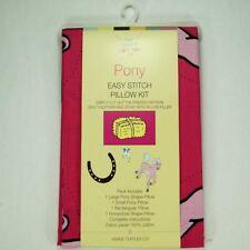 PONY facile stitch Oreiller Kit Panneau 100% coton