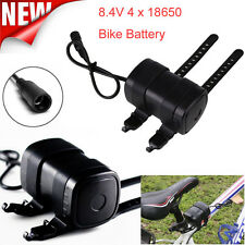 8.4V USB Rechargeable 6000mAh 4X18650 Battery Pack For Bicycle Light Bike Torch