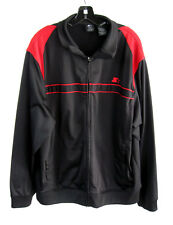 Starter Athletic Track Top Black Red Full Zip L/S Warm Up Jacket Sz XL (46-48)