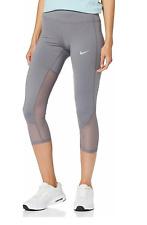 New Nike Women Cropped Legging Size XL / XXL/stretchy/mesh inserts/zip pocket