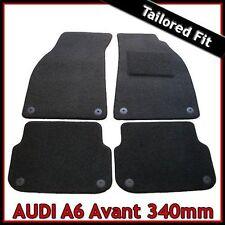 Audi A6 Avant Estate C6 2005-2011 340mm Tailored Carpet Car Mats BLACK