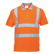 Portwest PW024 Hi Vis Polo Shirt S477 RT22 Reflective Polo Short Sleeves T-Shirt