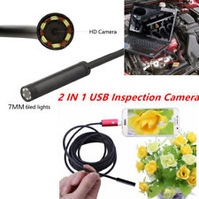 7mm Lens 6LED Inspection Camera Scope Borescope 5M Cable Android/XP/Win7- Win10