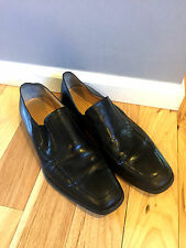 BRUNO MAGLI Mens Loafer Ashton Dress Shoe Black ITALY Leather s7 Medium Slip On