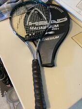 """Head Magnesium 2001 Xtralong Tennis Racquet 4 3/8"""" Grip With Head Cover"""