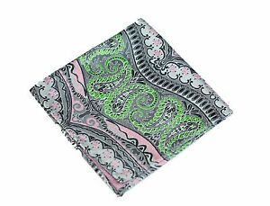 Lord R Colton Masterworks Pocket Square - Galapagos Silver Lime Silk - $75 New