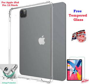 BUMPER Gel Back Case Cover + TEMPERED GLASS FREE FOR Apple iPad Pro 12.9 2021