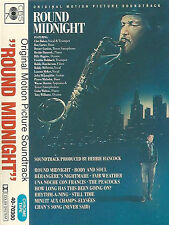 HERBIE HANCOCK ROUND MIDNIGHT SOUNDTRACK CASSETTE ALBUM DEXTER GORDON JAZZ