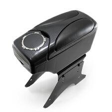 Universal Car Armrest Arm Rest Centre Console Leather Box Cup Holder Carbon