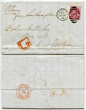 GB QV LATE FEE L2 BOXED 1875 THREEPENCE Pl.16 PART INSCRIPTION to ZOPHAR MILLS