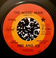 RARE Psych Mod Garage 45 RPM Fire and Ice 'The Music Man'/'For The Money' PROMO