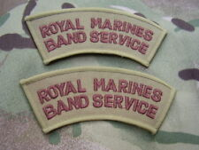 Royal Marines Band Service Combat Jacket/Shirt Desert Subdued Title Patch/Badges