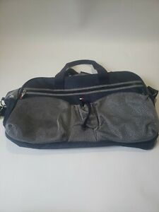 Tommy Hilfiger Duffle Bag Travel/gym/weekender Canvas Navy/Gray