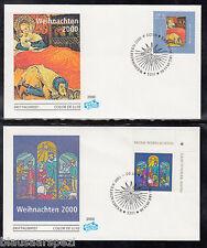 A 111 ) Bund / BRD/ Germany 2151 - 2152  FDC - Weihnachten 2000