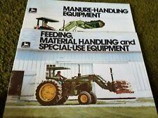 John Deere Agricultural Brochures (Manure/Feeding)(2 Total)(Used)