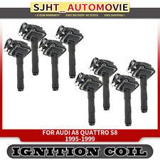 8x Ignition Coils for Audi A8 Quattro S8 4D 3.7L 4.2L 32V 1995-1999 058905105