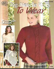 ASN Big Needle Knits to Wear Knitting Book  5 Designs PB Clean, no marks