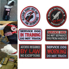 """""""SERVICE DOG DO NOT TOUCH"""" Sew Embroidered Patch Shoulder Flash Badge UK"""