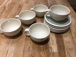 5 X Denby Energy Tea Cup and Saucer