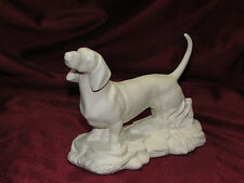 Ceramic Bisque Dachshund Dog on a Rock Base U-Paint ~ Ready to Paint