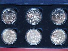 Liberia 1996 STAR TREK COMMEMORATIVO 6x $1 DOLLARO UNC COIN COLLECTION Set in Scatola