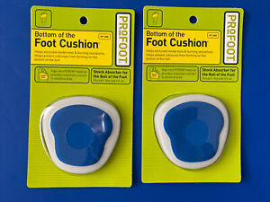 2 Pairs - PROFOOT BOTTOM OF THE FOOT CUSHION, 1 PAIR FITS ALL