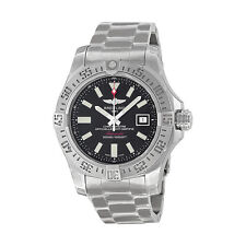 Breitling Avenger II Seawolf Black Dial Stainless Steel Mens Watch