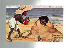 1908 Winnipeg Canada Postcard Perfin Cover Black Children At Beach to Seattle