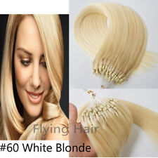 18'' #60 Blonde Double Drawn Micro Bead Ring Loop Human Remy Hair Extensions 1G