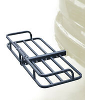 "48"" Hitch Mount Cargo Carrier Rack Cargo Basket-500lb Capacity Luggage, Camping"