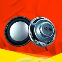 2pcs 40hm 3W Full-range Audio Stereo Speaker 40mm Loudspeakers Woofer Pro  UKLQ