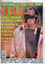 NME 12 MAR 1994 . NIRVANA KURT COBAIN IN DRUG COMA FRONT COVER ISSUE
