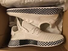 Adidas Deerupt Runner J AQ41877 Men's Size 7 White Black Netting NIB UltraBoost