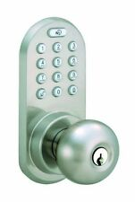 Morning Industry Inc Qkk-01sn 3-in-1 Remote Control & Touchpad Door Knob [satin