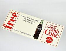 Bel età COCA-COLA coupon USA 1960er-free King Size Coca Cola