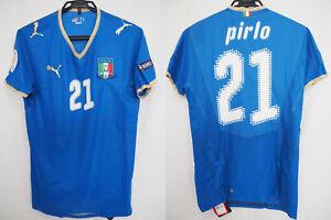 2008 Italy Azzurri Player Jersey Shirt Maglia Home UEFA EURO Pirlo #21 M BNWT