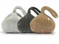Fashion Women Crystal Rhinestones Evening Clutch Bag Party Wedding Purse Handbag